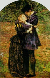 A Huguenot on St. Bartholomew's Day, 1852 by Millais | Painting Reproduction