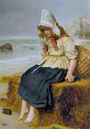 Message from the Sea, c.1894 by Millais | Painting Reproduction