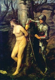 The Knight Errant, 1870 by Millais | Painting Reproduction