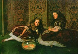 Leisure Hours, 1864 by Millais | Painting Reproduction