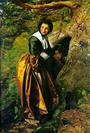 The Proscribed Royalist 1651, undated by Millais | Painting Reproduction