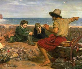 The Boyhood of Raleigh, 1870 by Millais | Painting Reproduction