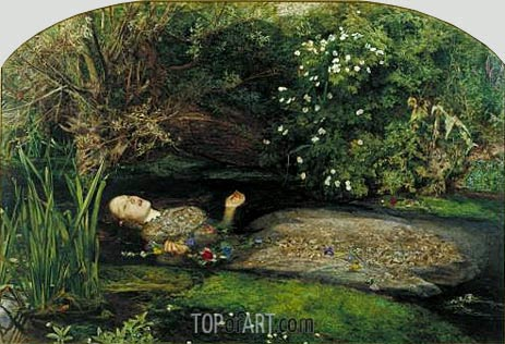 Ophelia, c.1851/52 | Millais | Painting Reproduction