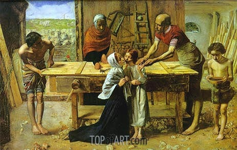 Christ in the House of His Parents, c.1849/50 | Millais | Gemälde Reproduktion