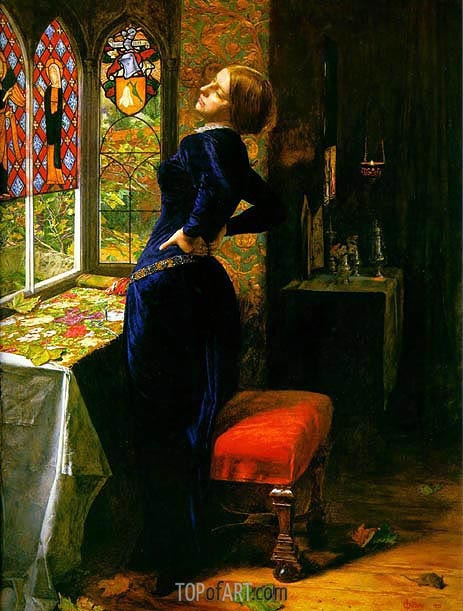 Mariana in the Moated Grange, 1851 | Millais | Painting Reproduction