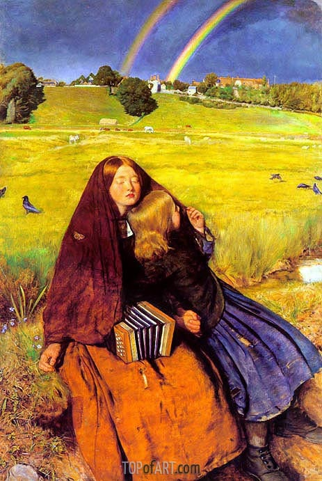 The Blind Girl, c.1854/56 | Millais | Gemälde Reproduktion