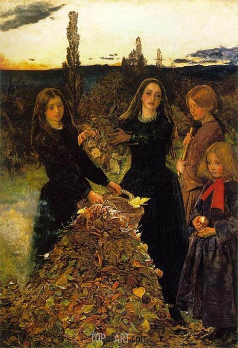 Autumn Leaves, c.1855/56 | Millais | Gemälde Reproduktion