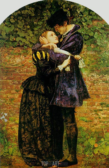 A Huguenot on St. Bartholomew's Day, 1852 | Millais | Painting Reproduction