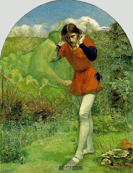 Millais | Ferdinand Lured by Ariel, c.1849/50