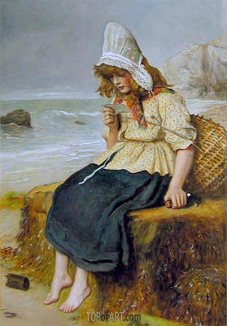 Message from the Sea, c.1894 | Millais | Gemälde Reproduktion