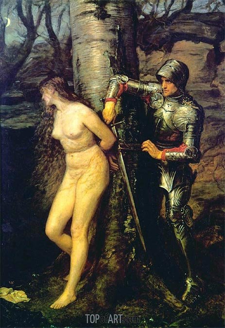 The Knight Errant, 1870 | Millais | Gemälde Reproduktion