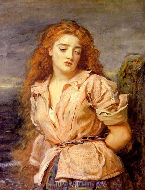 The Matyr of the Solway, 1871 | Millais | Painting Reproduction