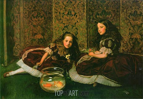 Leisure Hours, 1864 | Millais | Painting Reproduction