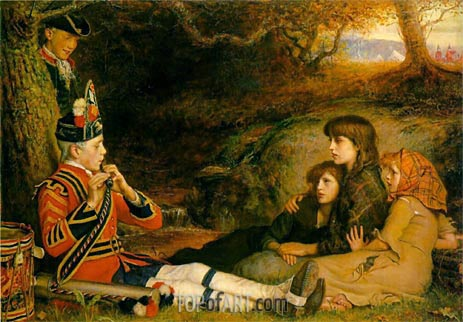An Idyll of 1745 (The Piper), 1884 | Millais | Painting Reproduction