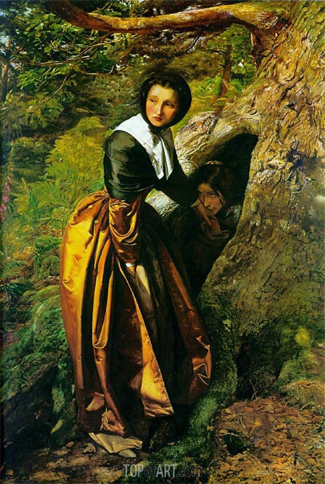The Proscribed Royalist 1651, undated | Millais | Painting Reproduction
