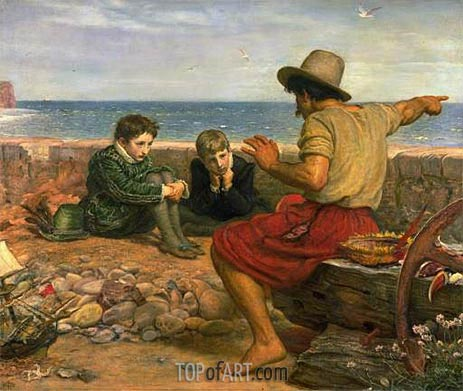 Millais | The Boyhood of Raleigh, 1870