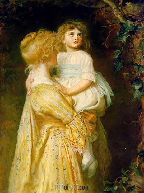 The Nest, 1887 | Millais | Painting Reproduction