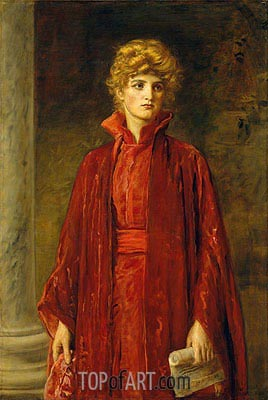 Portia (Kate Dolan), 1886 | Millais| Painting Reproduction
