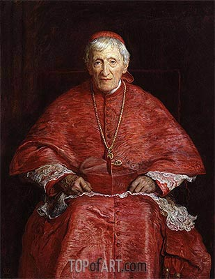 Portrait of John Henry Newman, 1881 | Millais | Painting Reproduction