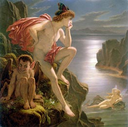 Oberon and the Mermaid, undated by Joseph Noel Paton | Painting Reproduction