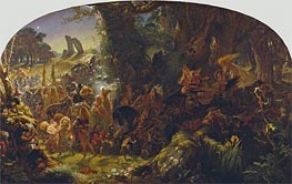 The Fairy Raid: Carrying off a Changeling - Midsummer Eve | Joseph Noel Paton | Painting Reproduction