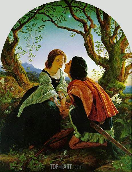 Joseph Noel Paton | Hesperus, the Evening Star, Sacred to Lovers, 1857