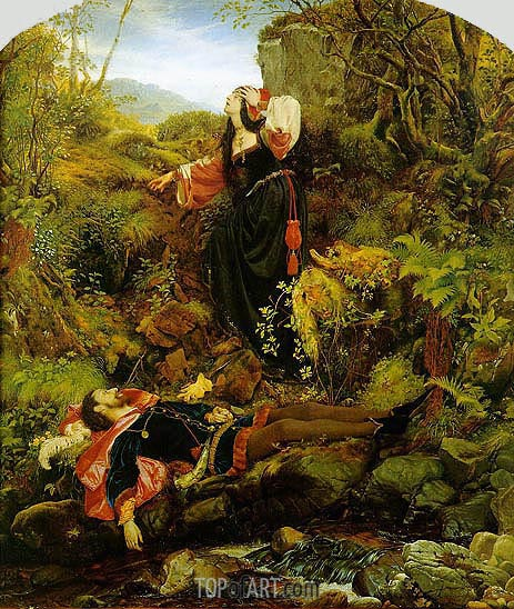 The Bluidie Tryst, 1855 | Joseph Noel Paton | Painting Reproduction