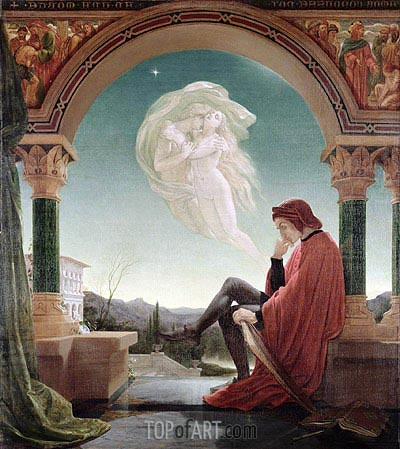 Dante's Dream, from the 'Divine Comedy', undated | Joseph Noel Paton| Painting Reproduction