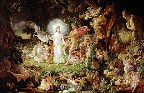 The Quarrel of Oberon and Titania, 1849 | Joseph Noel Paton | Gemälde Reproduktion