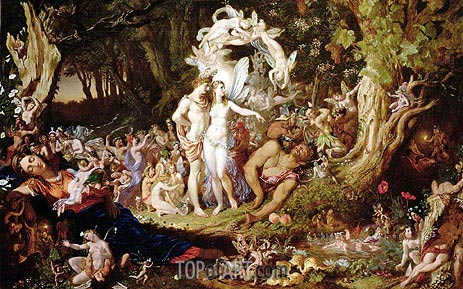 The Reconciliation of Oberon and Titania, 1847 | Joseph Noel Paton | Gemälde Reproduktion