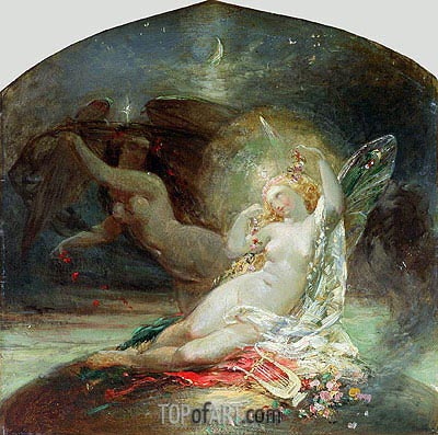 The Fairy Queen, undated | Joseph Noel Paton | Gemälde Reproduktion