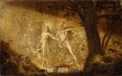 The Quarrel of Oberon and Titania, c.1849 | Joseph Noel Paton| Painting Reproduction