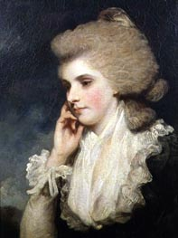 Frances Countess of Lincoln, c.1781/8 by Reynolds | Painting Reproduction