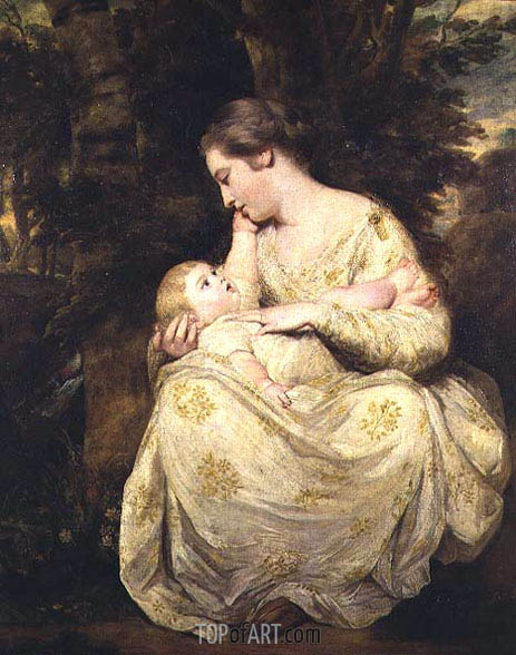 Mrs Susanna Hoare and Child, c.1763/64 | Reynolds | Painting Reproduction