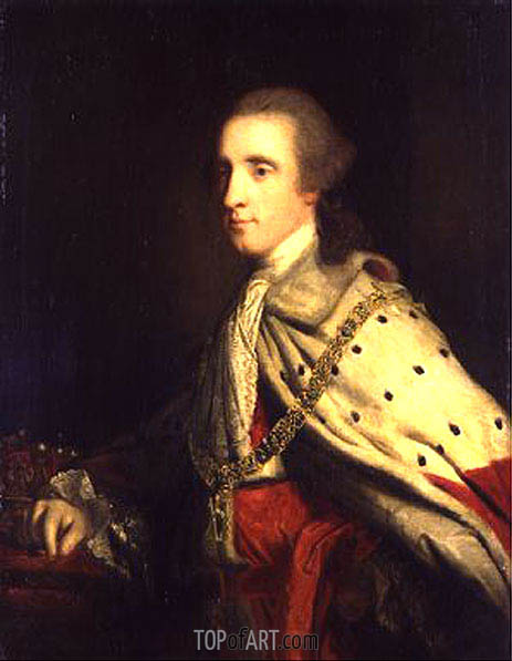 The 4th Duke of Queensbury (Old Q) as Earl of March, c.1759/60 | Reynolds | Painting Reproduction
