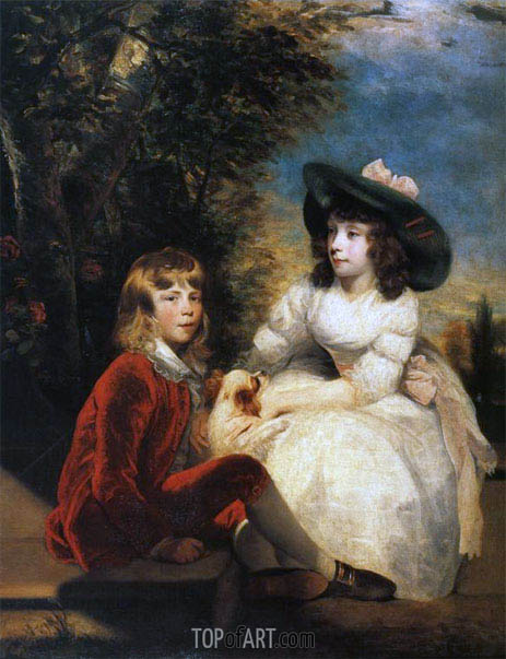 The Angerstein Children, 1783 | Reynolds | Painting Reproduction