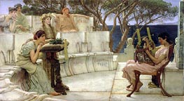 Sappho and Alcaeus | Alma-Tadema | Painting Reproduction