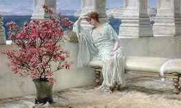 Her Eyes are with Her Thoughts and They are Far Away | Alma-Tadema | Painting Reproduction