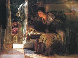 Welcome Footsteps | Alma-Tadema | Painting Reproduction
