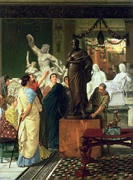 A Sculpture Gallery in Rome at the Time of Augustus, 1867 by Alma-Tadema | Painting Reproduction
