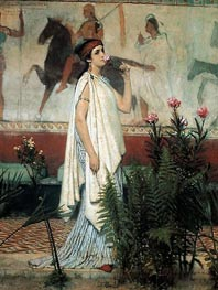 A Greek Woman, 1869 by Alma-Tadema | Painting Reproduction