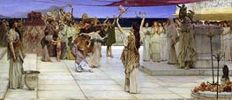 A Dedication to Bacchus, 1889 by Alma-Tadema | Painting Reproduction