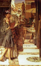 The Parting Kiss, 1882 by Alma-Tadema | Painting Reproduction