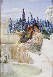 Whispering Noon, 1896 by Alma-Tadema | Painting Reproduction
