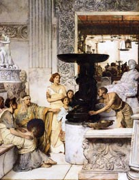 The Sculpture Gallery, 1874 by Alma-Tadema | Painting Reproduction