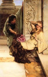 Shy, undated by Alma-Tadema | Painting Reproduction