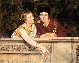 Gallo-Roman Women, 1865 by Alma-Tadema | Painting Reproduction