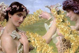 When Flowers Return, 1911 by Alma-Tadema | Painting Reproduction