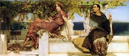 The Conversion of Paula by Saint Jerome, 1898 by Alma-Tadema | Painting Reproduction