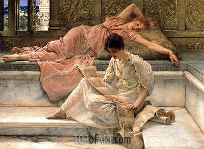 The Favourite Poet, 1889 | Alma-Tadema| Painting Reproduction
